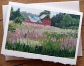 Country Barn Fine Art Notecard - 5 x 7