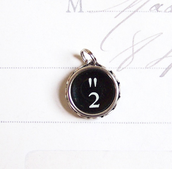 Vintage Typewriter Key Charm Number 2