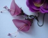 Purple Calla Lily Earrings
