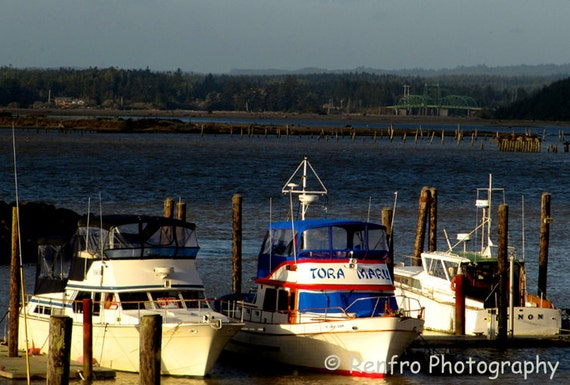 Coquille River Fishing Boats - Fine Art Print - Coastal Photography - Landscape Photography - Beach - Wall Art - Home Decor - Gift - Renfro