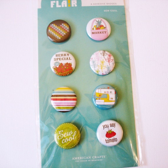 American Crafts Adhesive Badges - Sew Cool