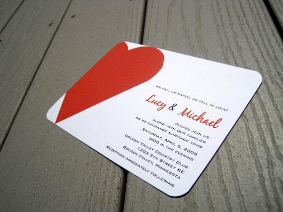 Lucy Wedding Invite Sample Set