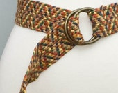 STORE CLOSING SALE vintage 1970s braided belt