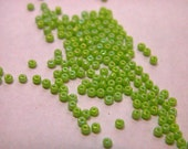 Pale Green AB Opaque Czech Seed Beads size 11/0 lot of 20 grams