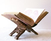 Carved Wood Book Rest Folding Holder East India