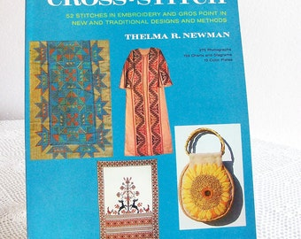 Cross Stitch Embroidery Book Thelma Newman 1978 Needlework Patterns
