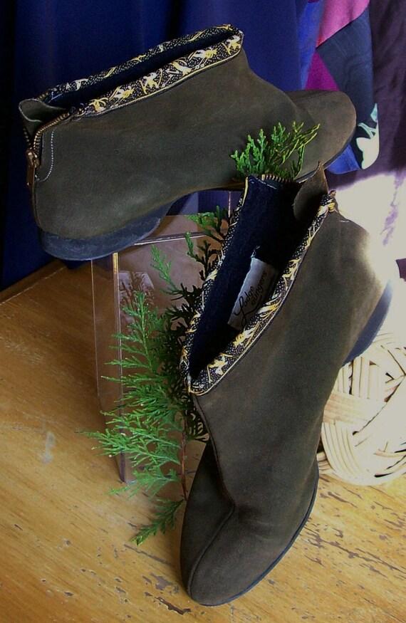 Apres Ski Leather Boots Kickerinos 1950s