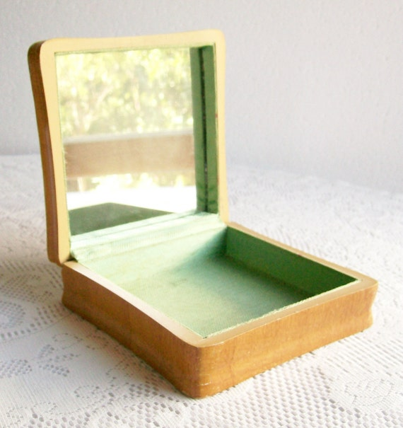 Wooden Box Vintage 1930s Waterfall Style Faux Wood Finish