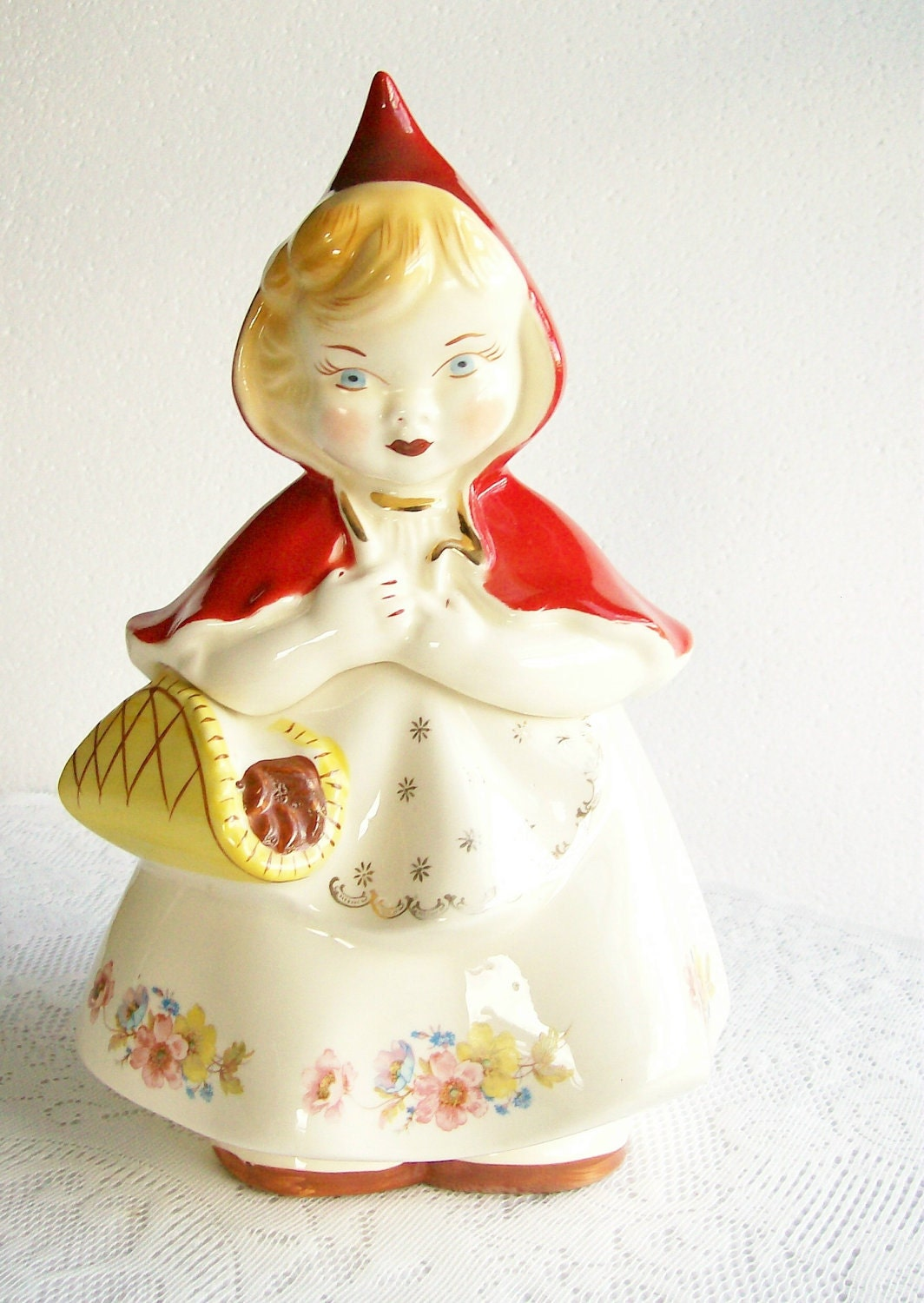 Cookie Jar Hull Little Red Riding Hood Vintage Pottery 1940s