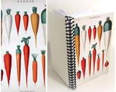 Botanical Chart: Carrots - Garden Planner - A6 Spiral Notebook - 4x6in