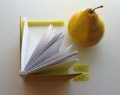 Yellow Corrugated Spiral Notebook (4x4)