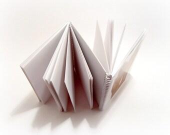 Folded Notebook, Kids Gloves, Hand Lines, Spiral Notebook, Pocket Notebook, Blank Sketchbook, One of a Kind, Spiral Bound Journal, SALE