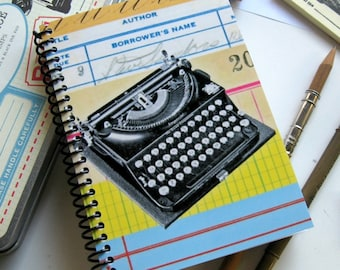 Vintage Typewriter, Writing Journal, Blank Sketchbook, Diary Journal, Spiral Notebook, A6 Notebook, 4x6 Inches Notebook, Vintage Office