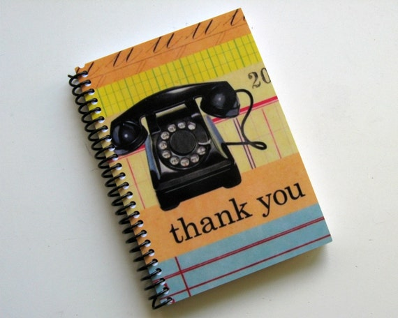 Retro Telephone - Notebook Spiral Bound