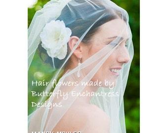 Crystal Fireworks Ivory Audrina Flower Bridal Hair Clip
