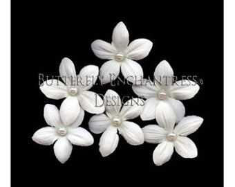 Bridal Hair Accessories, Bridal Hair Flowers, Wedding Hair Pins - 6 Pearl Pale Ivory Stephanotis Bridal Hair Pins
