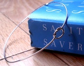 Knotted Up In You Rustic Sterling Silver Bangle