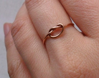 Knotted Up In You Rustic Rose Gold Stacking Ring