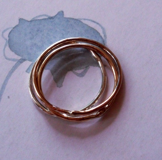 Simply Skinny Luxurious Precious Trinity Metal Stacking Rings - Sterling, Rose Gold and 14K Gold Fill