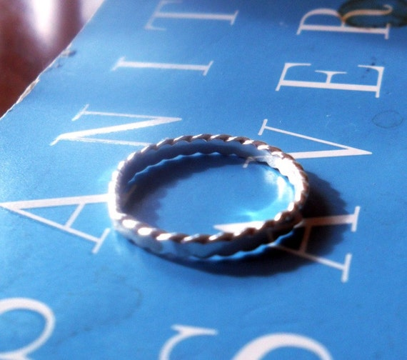 One Simply Stacked Flat Scalloped Edge Sterling Silver Stacking Band