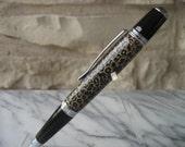 Sierra Style Hand turned Wooden pen (Leopard Pattern)