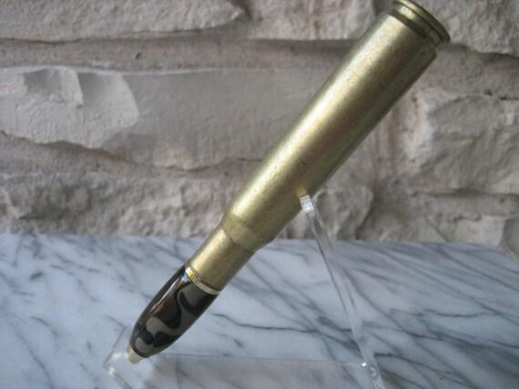 Bullet Casing Pen (.50 Caliber) Forest Camo