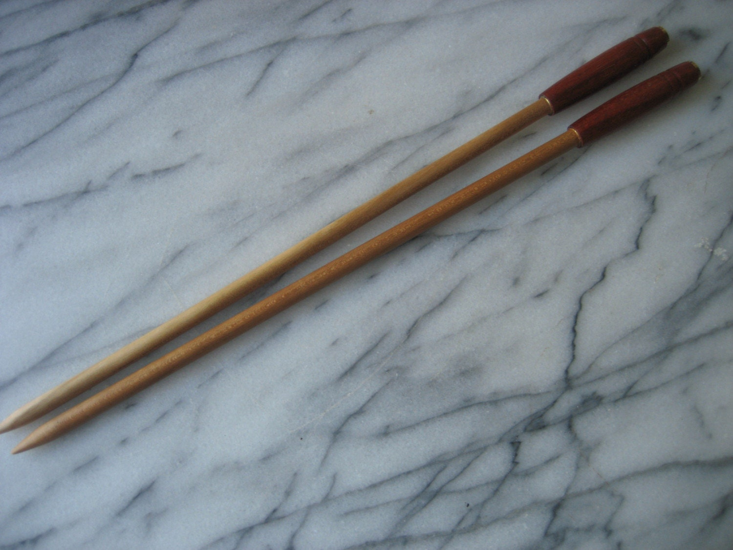 Wooden Knitting Needles : Hand Made Wooden Knitting Needles Cherry/Bloodwood by Craftiness