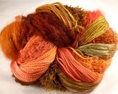 Hand Dyed Wool Yarn, 600 yards, 'Autumn' colorway, Knitting for Shawls, Vests