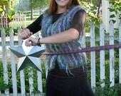 Vest Knitting Kit, Hand dyed Yarn, Easy, Stash Buster