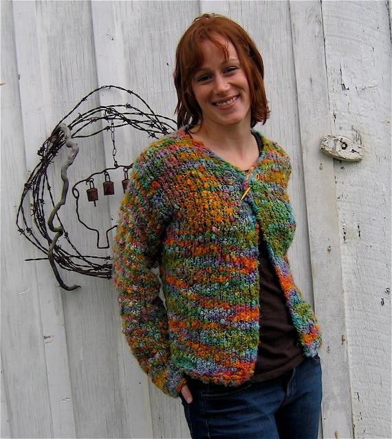 Cardigan Knitting Pattern Bulky Yarn Easy