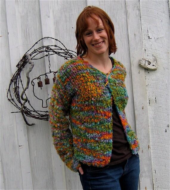 Bulky Sweater Knitting Patterns : Cardigan Knitting Pattern Bulky Yarn Easy by dancingleaffarm