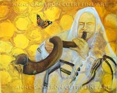 Prophetic Message Sketch 9 -Honey Dripping from the Shofar