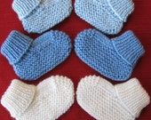 Cozy Baby Booties knitting pattern (pdf digital download)