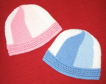 Mesh-Edged Baby Hat knitting pattern (pdf digital download)