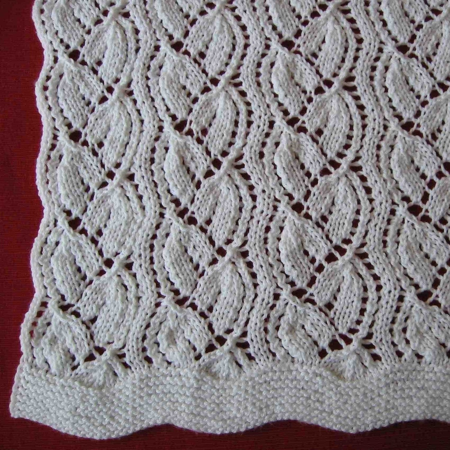 Lace Knitting Patterns In The Round : Lace Wedding Throw knitting pattern with free offer for