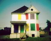 Rainbow Crackhouse - Fine Art HOLGA Print - 5x5
