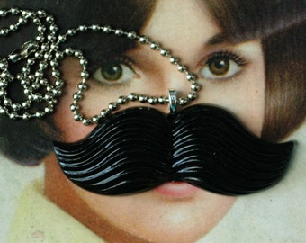 Big Black Stache - The Original Resin Moustache Necklace