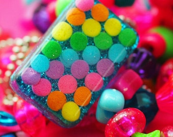 Candy Rave - Resin Rainbow Sprinkles Necklace