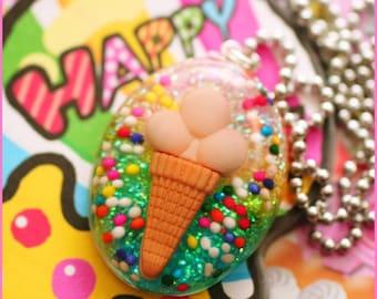 Superman - Ice-Cream Sprinkles Resin Necklace