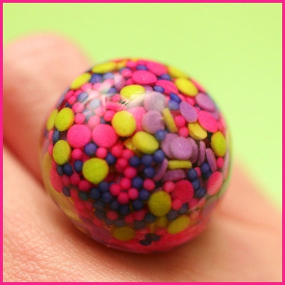 BIG Neon Sprinkles - Resin Candy Ring