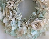 William Shakespear Upcycled Vintage Book Wreath- Cottage Shabby- Beach Cottage- Wall Hanging