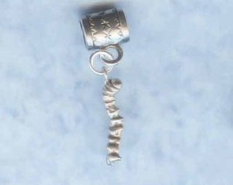 Sterling Silver Caterpillar Lrg Hole Bead Fits All European  Add a Bead Charm Bracelet Jewelry AAB-CPLR