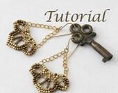 Beaded Earrings Tutorial Lotus Digital Download