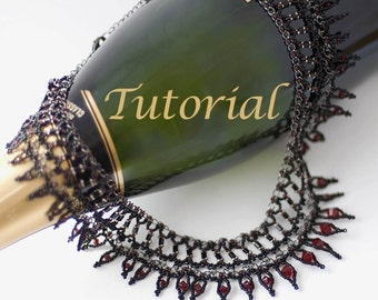 Beaded Necklace Tutorial Darkness Digital Download