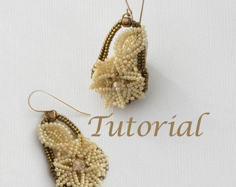 Bead Woven Lace Earrings Tutorial Dainty Dianthus (Advanced) Digital Download