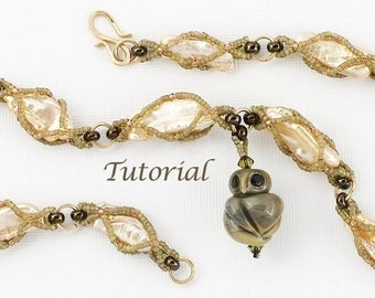 Beadwoven Necklace Tutorial Woodland Treasure Digital Download