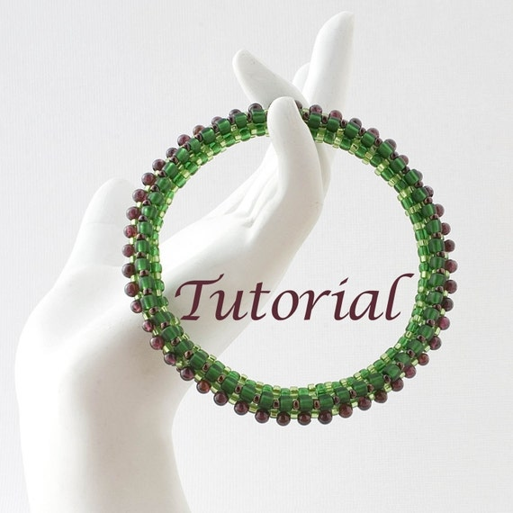 Beaded Bracelet Tutorial Round and Round Digital Download