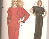 Vogue Sewing Pattern 8847 Dress w Kimono Sleeves Sz 8,10,12 Uncut