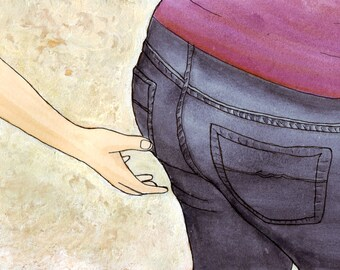 Butt Grab digital print