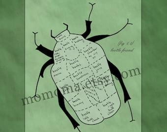 I wish i had a beetle friend large print